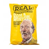 Real Handcooked English Mustard Crisps Snacks (150G)