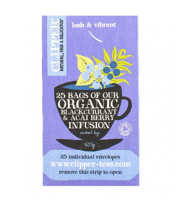 Clipper Blackcurrant & Acai Berry Infusion 25 Bags (60G)