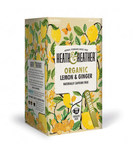 Heath & Heather Organic Lemon & Ginger Tea 30g (20bags)