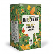 Heath & Heather Organic Green Tea & Ginger 40g (20bags)
