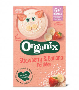 Organix Strawberry & Banana Porridge (120G)