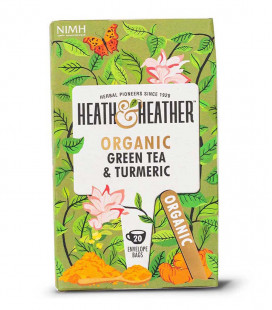 Heath & Heather Organic Green Tea & Turmeric 40g (20bags)